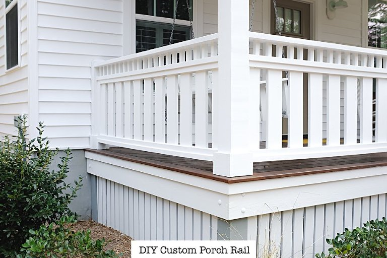 DIY Custom Porch Deck Rail Cottage Design | Simply Living NC