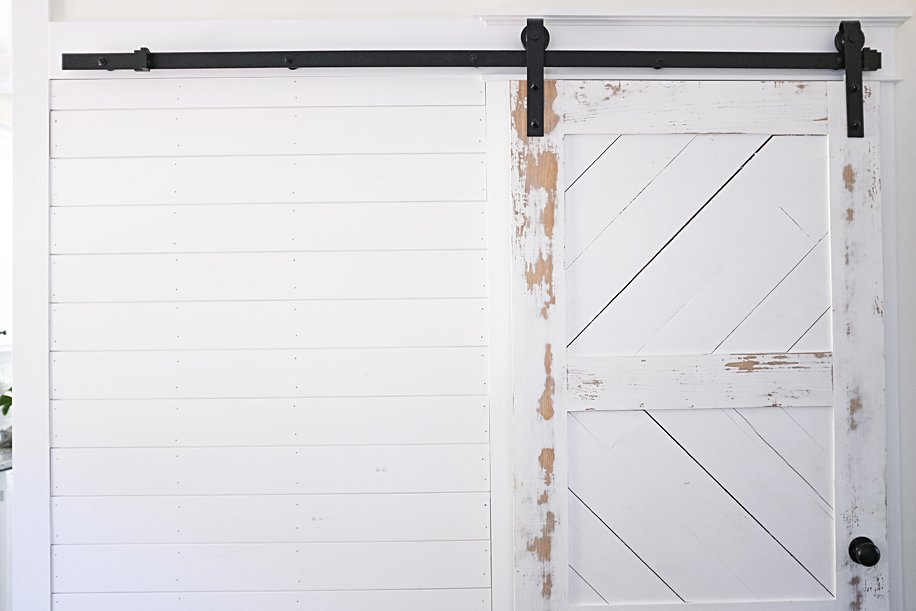 How to Install a Barn Door with this Hardware Kit | with Optional Shiplap Wall | Simply Living NC