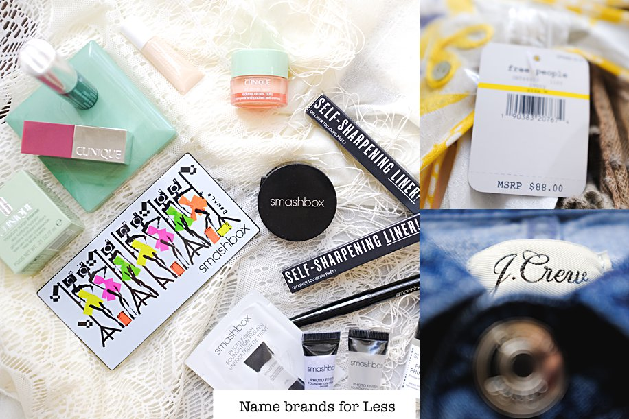 How to shop Free People, J.Crew, Fashion & Beauty Name brands for Less, Clinique, Smashbox | Simply Living NC
