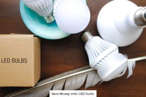 Use LED light bulbs to Save Money | Feather Light Low Cost Energy Bill | Simply Living NC