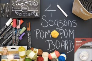 DIY 4 Seasons Pom Pom Magnetic Chalkboard Crafts for Kids & Adults | Simply Living NC