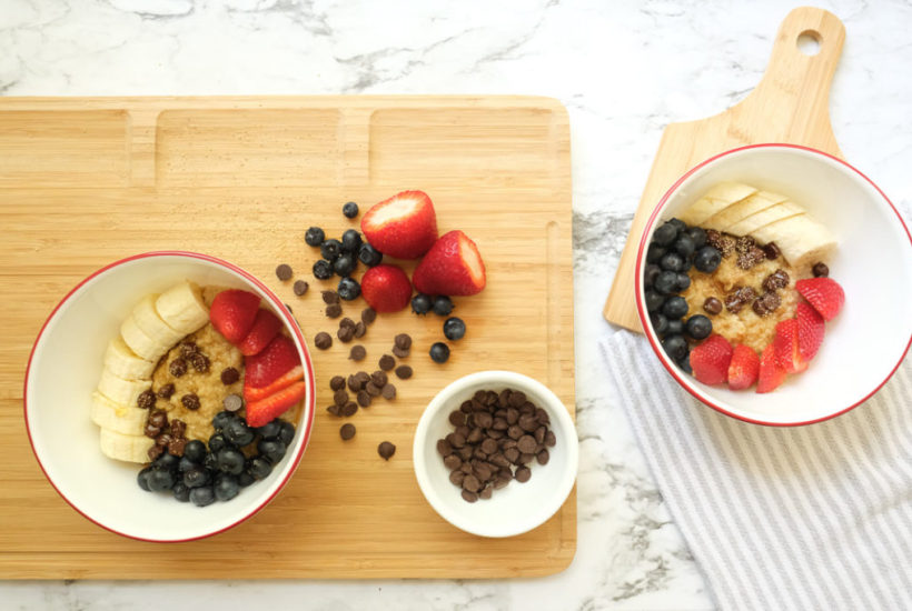 SUPERFOOD OATMEAL BOWL; gluten free recipe