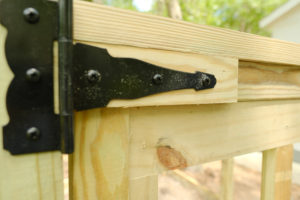 DIY Custom Vegetable Garden Fence; black cottage design | Simply Living NC