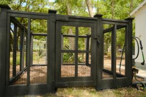 DIY Custom Vegetable Garden Fence; black cottage design | Simply Living NC