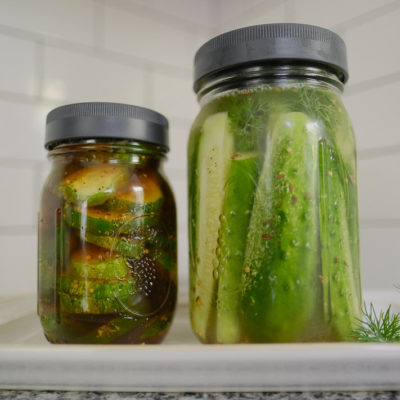 How to Make Refrigerator Pickles 2 Ways; dill plus bread & butter