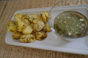 Roasted Parmesan Parsley Potatoes Recipe; harvested fresh garden to table simply living nc